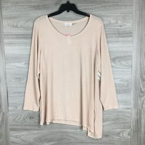 Calvin Klein Pink Sparkled Long Sleeve Top